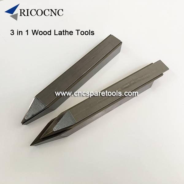 3 in 1 Wood Lathe Tools Woodturning Lathe Knives for Wood Lathing