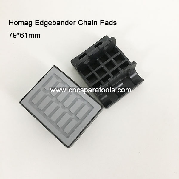 79x61mm Conveyor Chain Pads Track Pads for Homag Edgebanding Machines