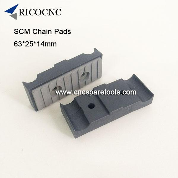 63x25x14mm SCM Edgebander Track Pads Conveyor Chain Pads for SCM Edge Banding Machine