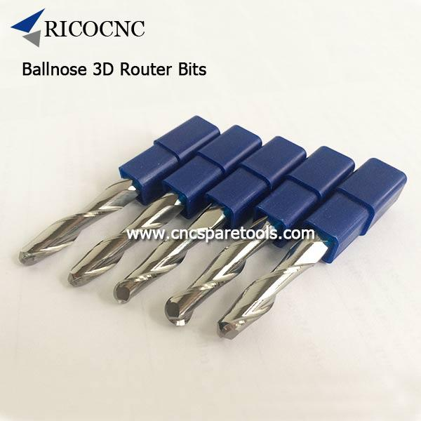 Ballnose 3D Wood Carving Bits MDF Router Bits for CNC Router