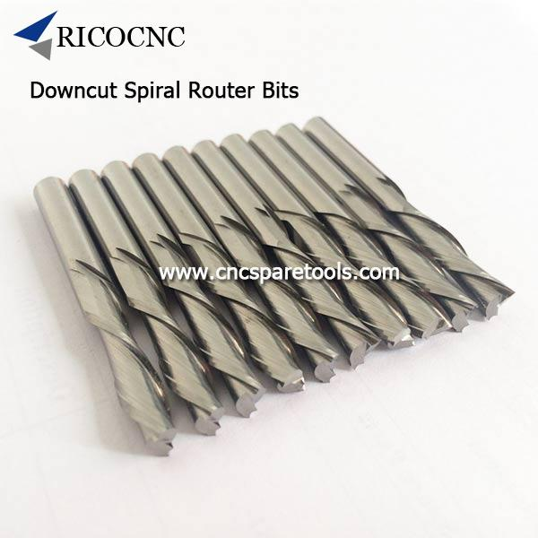 Solid Carbide Left Hand Downcut Spiral Router Bits For Mdf Plywood