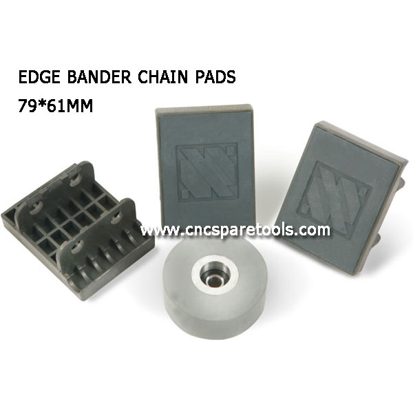 79x61mm BIESSE Edgebander Chain Track Pads for KDT Edgebanding Machine
