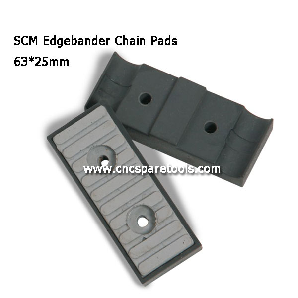 63x25mm SCM Edgebander Chain Pads CNC Track Pads for Edgebanding