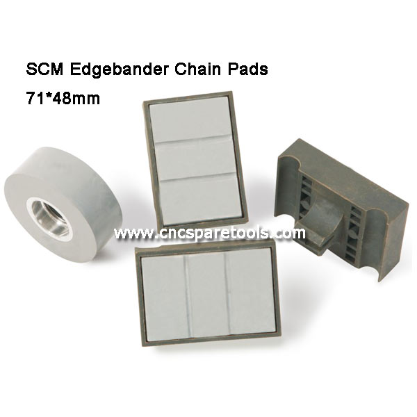 71x48mm SCM Edgebander Track Pads Edgebanding Machine Chain Pads for SCM