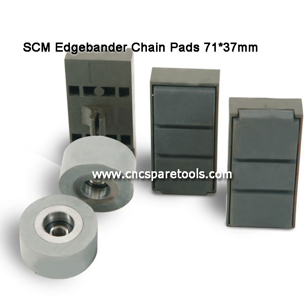 71x37mm SCM Edgebander Chain Pads Conveyance Track Pads for SCM