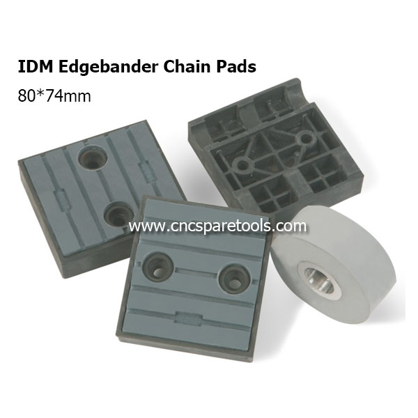 80x74mm IDM Edgebander Chain Pads CNC Track Pads Converyor Pads for Edgebanding Machine