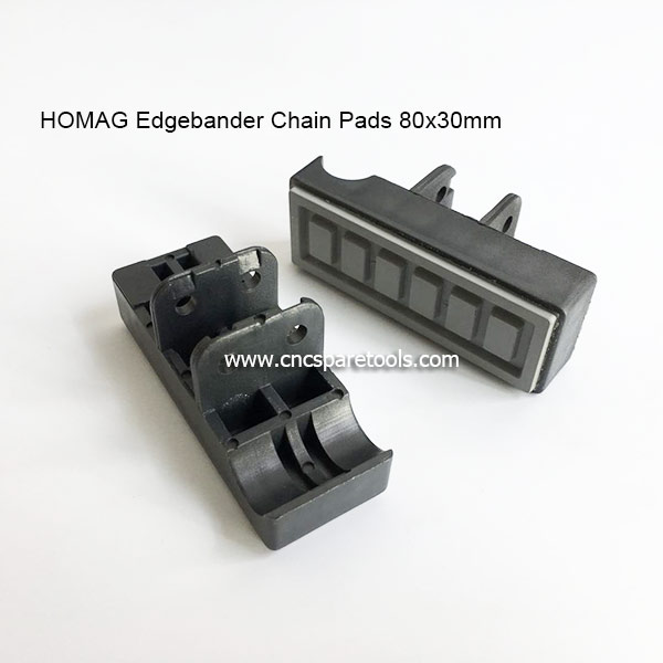 80x30mm Edgebander Track Pads Converyor Chain Pads for HOMAG Edge Banding Machine