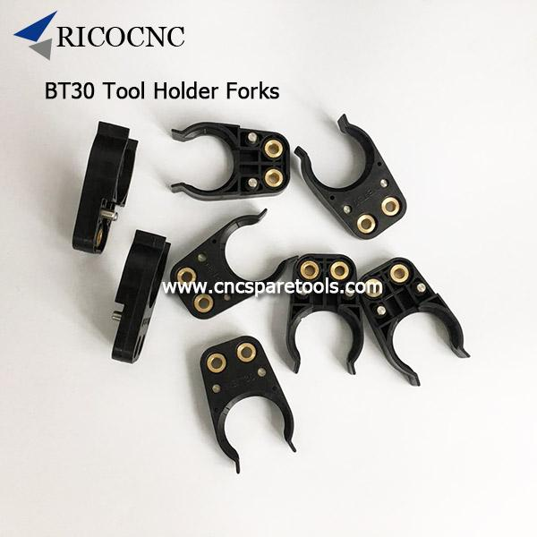 Black BT30 Tool Holder Forks Plastic NBT30 Tool Clamps ATC Tool Grippers for CNC Router
