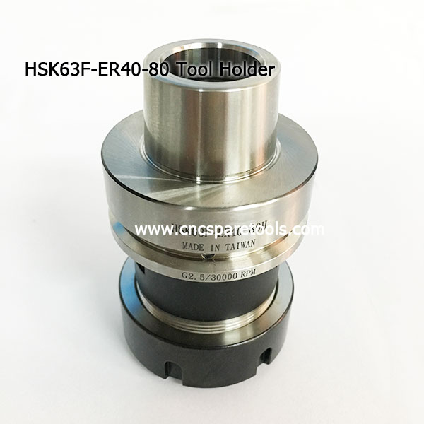 High Speed HSK63F Tool Holder HSK63F-ER40-80 Cones Woodworking Toolholders
