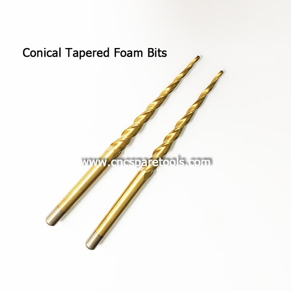 Conical Tapered Foam Router Bits EPS Foam Milling Tools Edge Taper Cutters