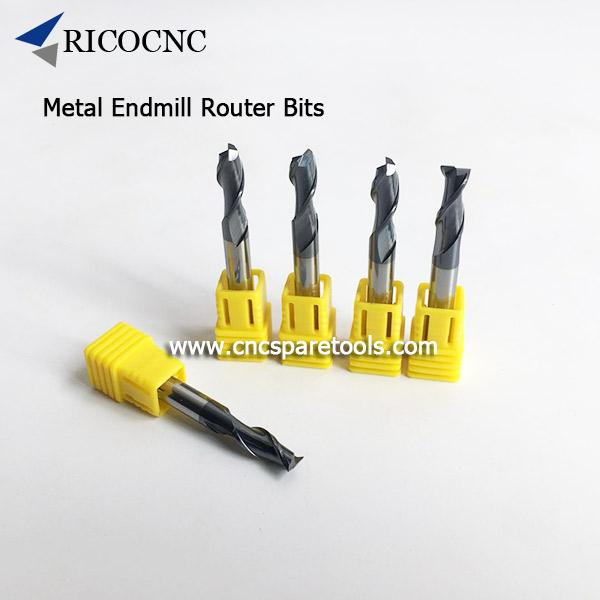 Tungsten Solid Carbide CNC Router Spiral Endmill Bits for Metal Cutting