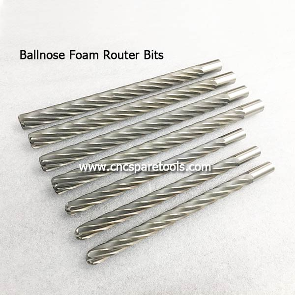 Ballnose Foam Router Bits Long Foam Mill Bits for EPS Poly Foam Cutting