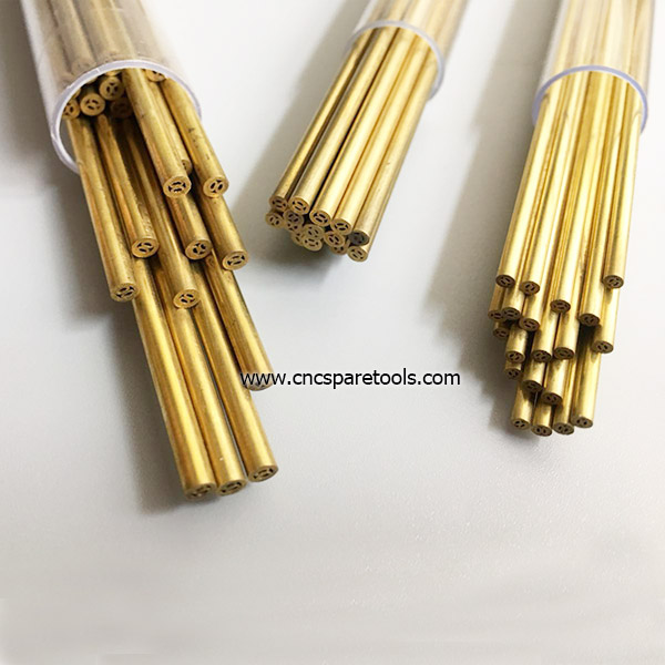 EDM Brass Pipe Multi Hole Electrode Tubes for Small Hole Popping EDM Machine
