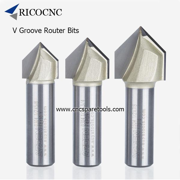 V Groove Router Bits Carbide Tipped 3D V Groove Cutters