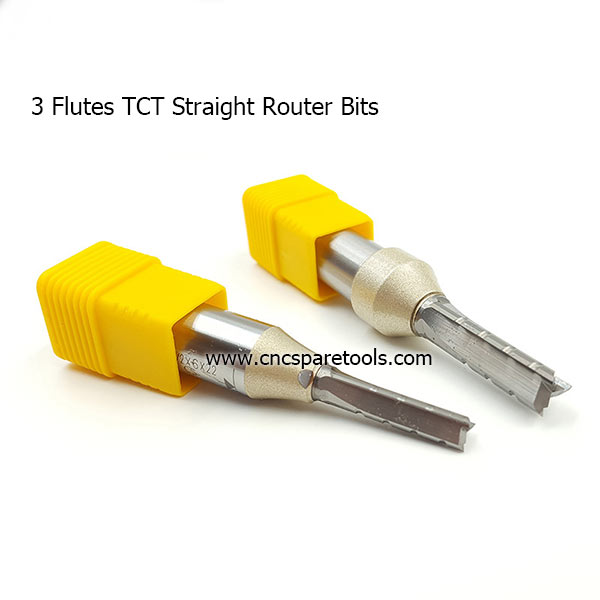 3 Flutes Straight CNC Router Bits for Plywood MDF Cutting