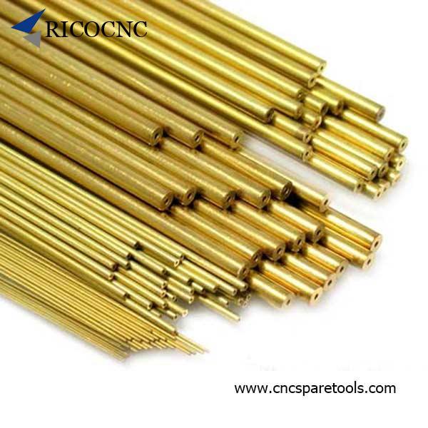 1 Set Brass Electrode Tubes for EDM Drilling Machine Diameter Φ1 Φ6 100 mm Long