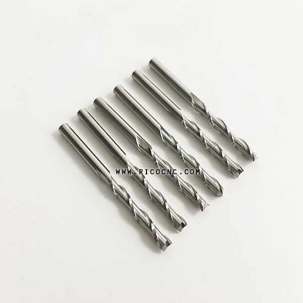 Upcut Spiral CNC Router Bits Carbide Spiral End Mill Cutters