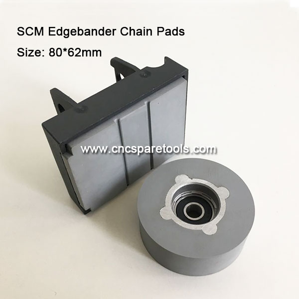 80x62mm SCM Edgebander Track Pads Conveyor Chain Pads for Edge Banding Machine