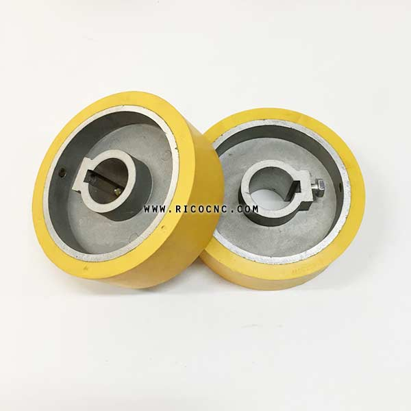 Rubber Power Feeder Roller Wheels for Woodworking Planer Moulders